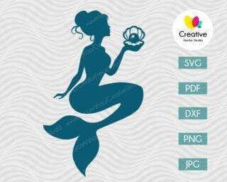 Mermaid SVG #4 Vector Design