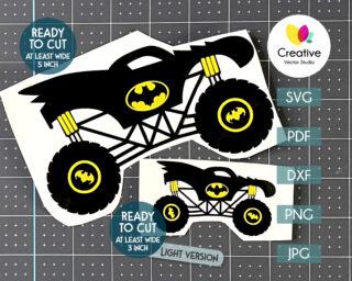 Bat Monster Truck SVG
