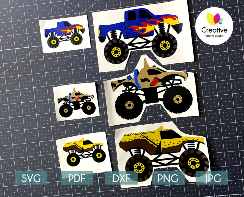 monster truck svg ready to cut