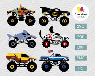 Monster Truck SVG Bundle #1