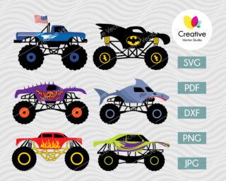 monster truck svg bundle