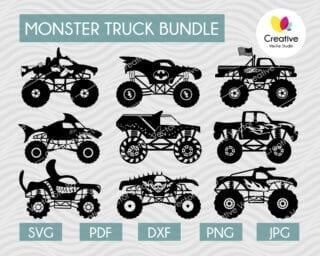 Monster Truck SVG Bundle #5