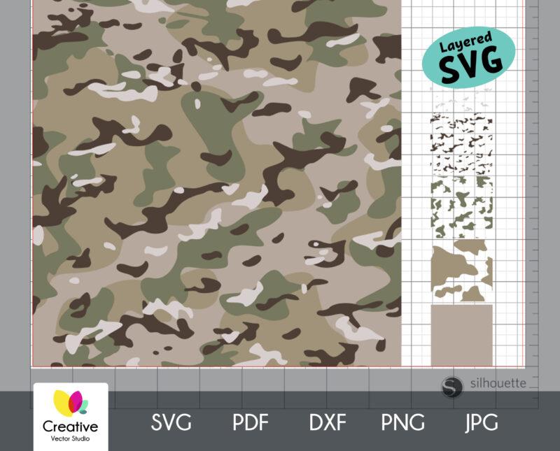 Multicam Camouflage Seamless SVG Pattern