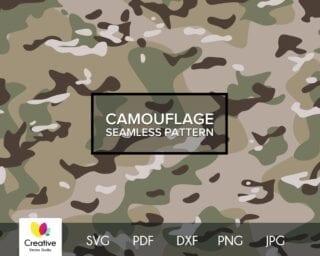 Multicam Camouflage SVG Seamless Pattern
