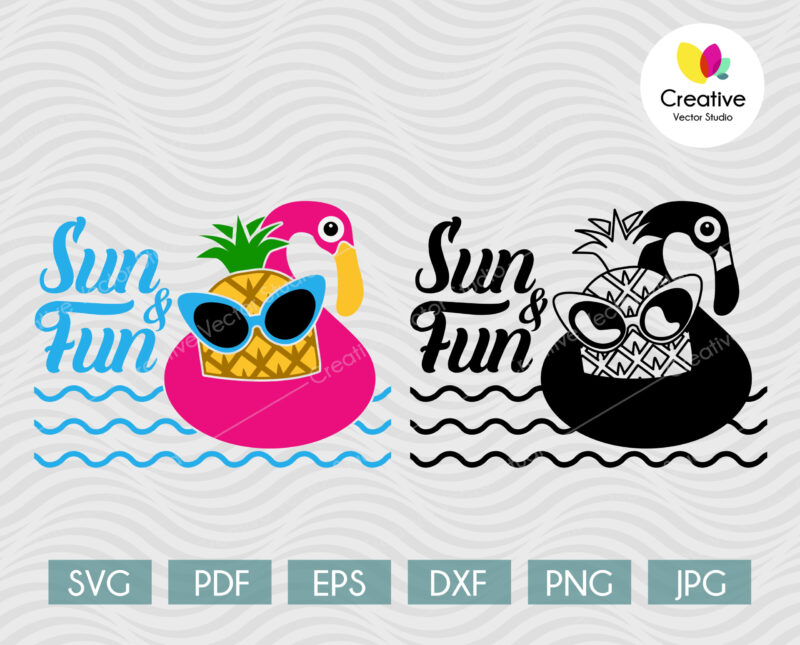 sun and fun svg