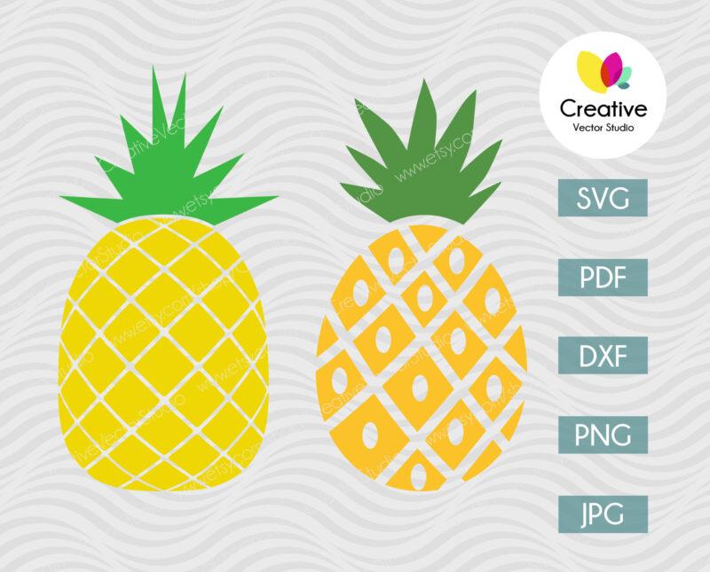 Pineapple svg bundle