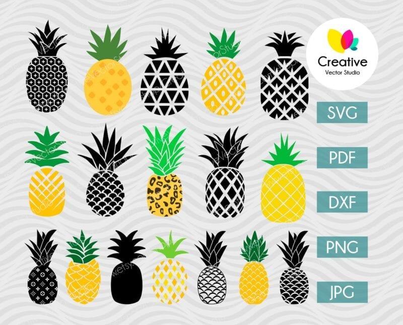 Pineapple SVG Bundle #2