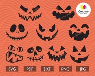 Pumpkin Face SVG Bundle
