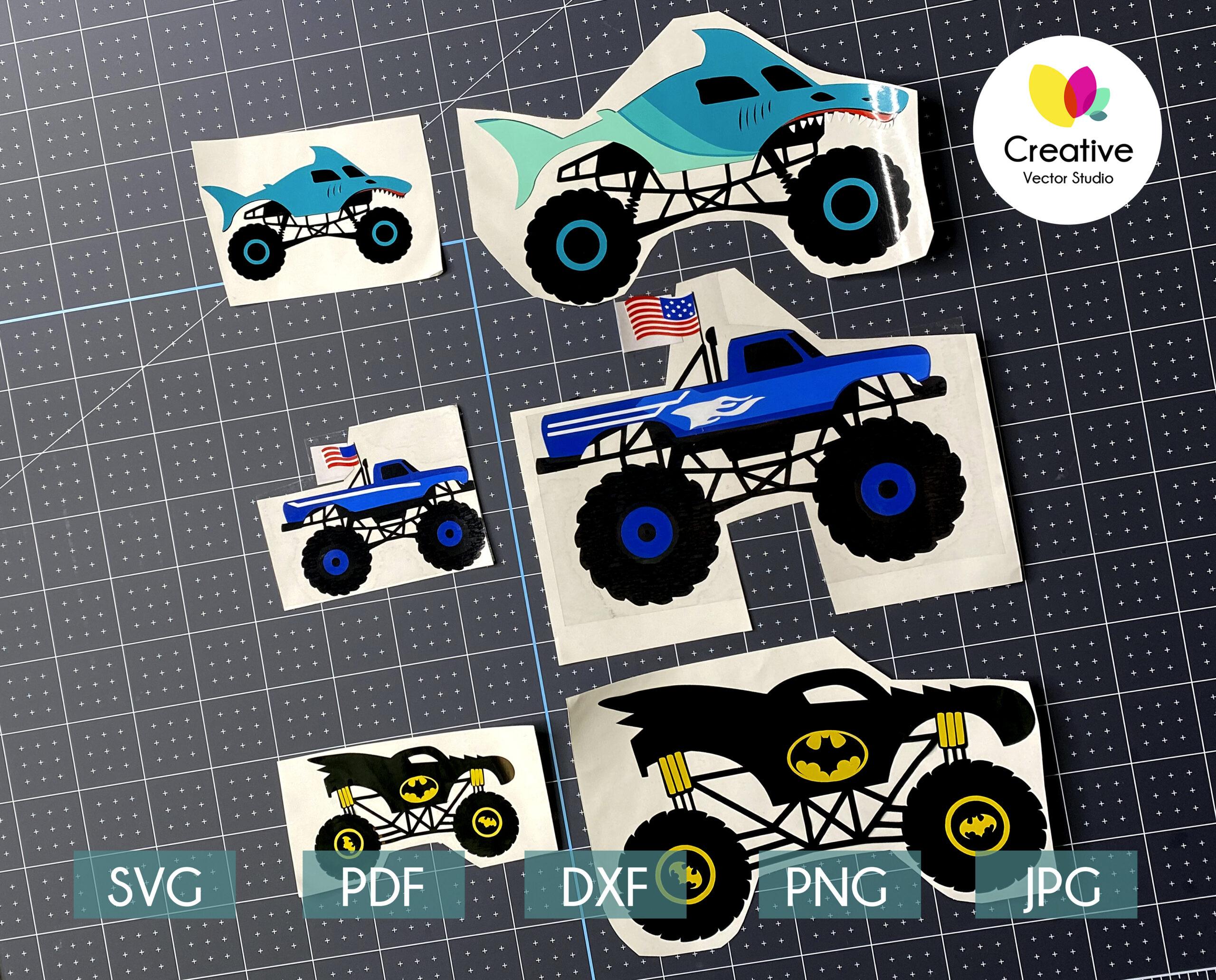 monster truck svg cricut cut files