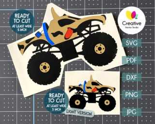 scooby monster truck svg