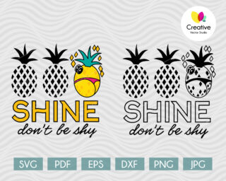 Shine, don't be shy svg