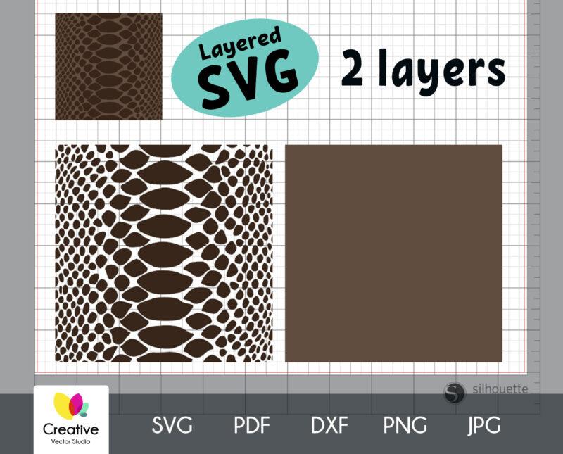 Seamless snake skin patterns