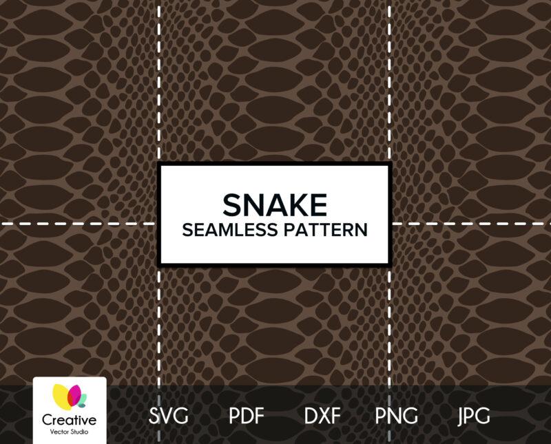 Snake Skin SVG Seamless Pattern