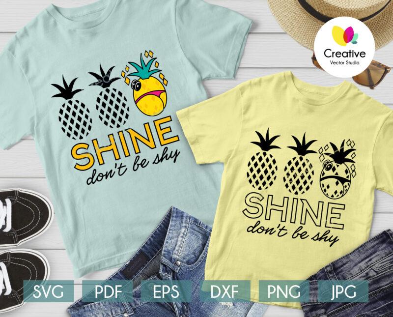 Pineapple svg shirt