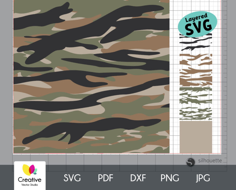 Tiger Camouflage Seamless SVG Pattern