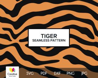 Tiger Skin Seamless Pattern SVG
