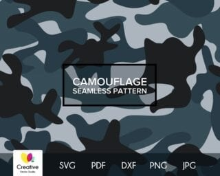 Camouflage SVG Seamless Pattern