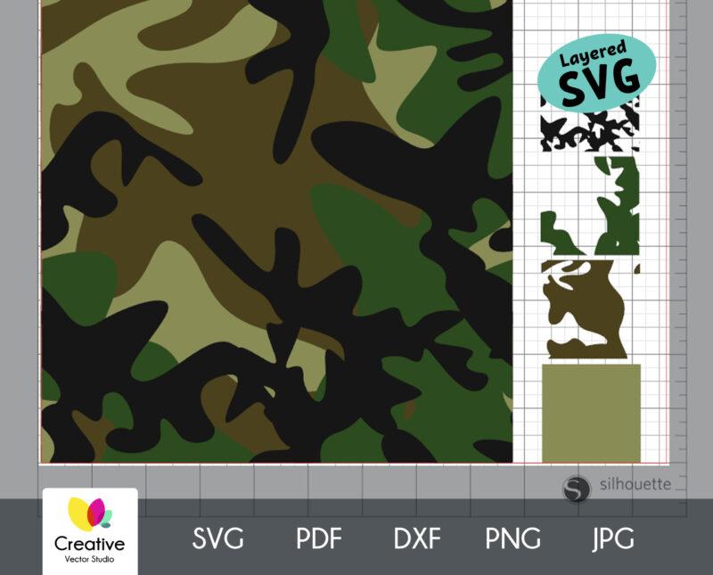 Woodland Camouflage Seamless SVG Pattern