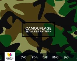 Camouflage Seamless SVG Pattern