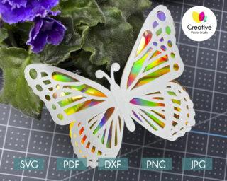3D Butterfly SVG #1 Cutting Template