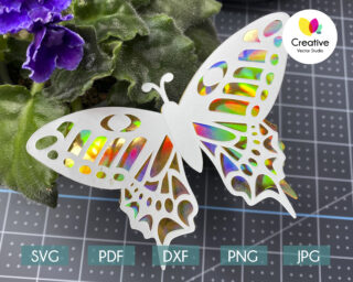 3D Paper Butterfly svg cutting files for Cricut, Silhouette