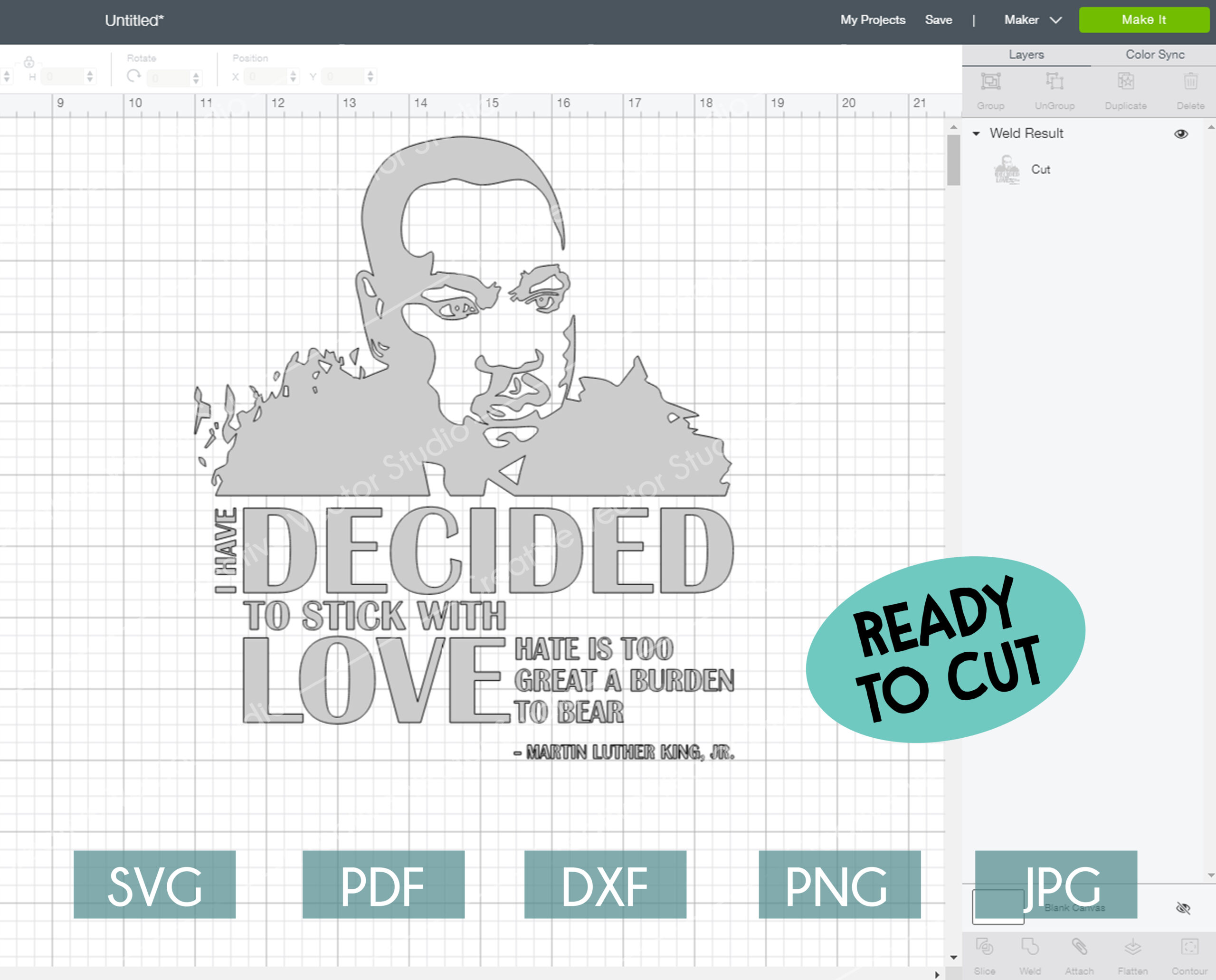Download I Have Decided to Stick With Love svg, by Martin Luther ...