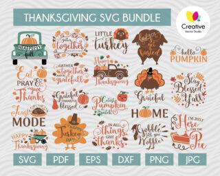 Thanksgiving SVG Bundle, SVG cut file for Cricut, Silhouette