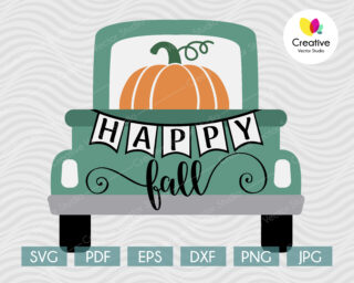 Thanksgiving Vintage Truck svg, Thanksgiving SVG cut file for Cricut, Silhouette