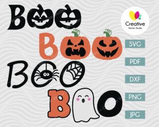 Boo SVG Halloween Bundle