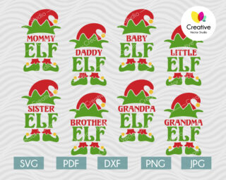 Elf Family svg