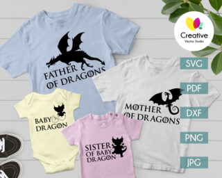 Dragon Family SVG