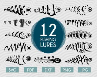 Fishing lure svg bundle #2