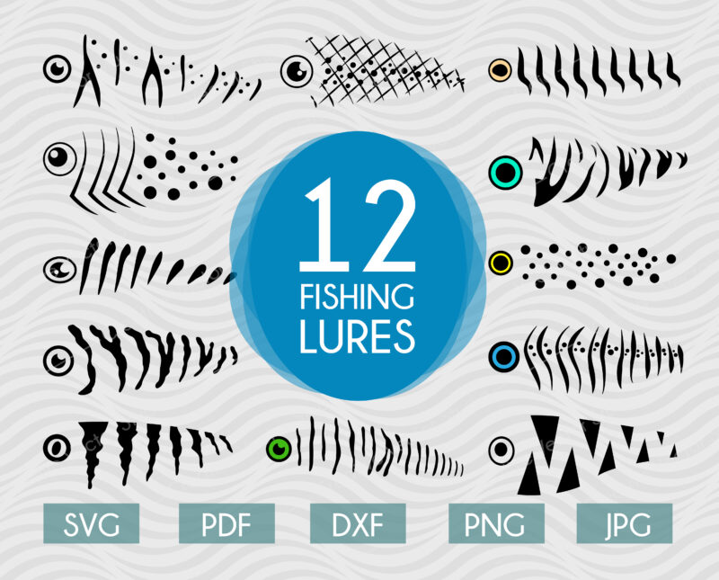 fishing lure svg bundle