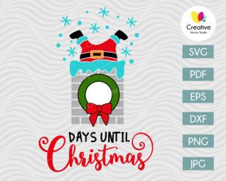 Days Until Christmas SVG Cut Files