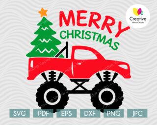 Christmas Monster Truck svg design