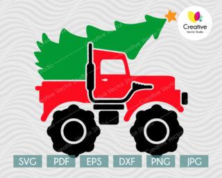 Christmas Monster Truck svg shirt design