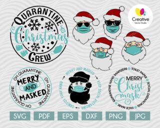 Quarantine christmas svg bundle
