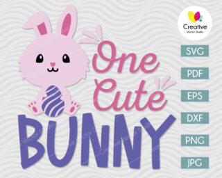 one cute bunny svg