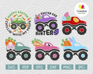 Easter Monster Truck svg