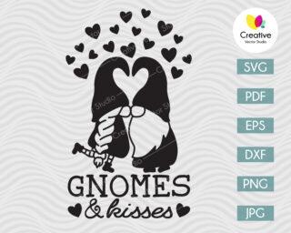Gnomes and Kisses svg