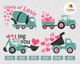 Valentine Tractor SVG