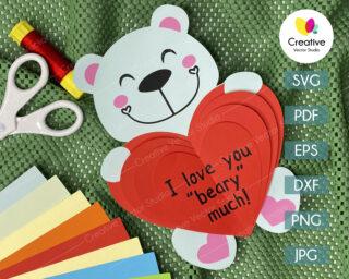 valentines bear svg