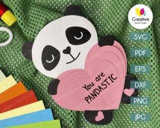 valentine panda svg