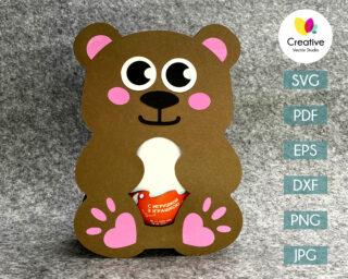 bear egg holder svg