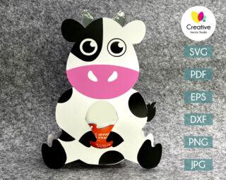 cow egg holder svg