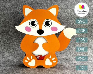 fox egg holder svg