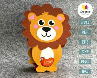 lion easter egg holder