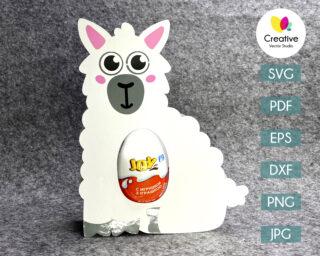 llama egg holder svg