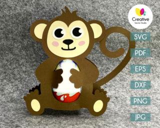 monkey egg holder svg