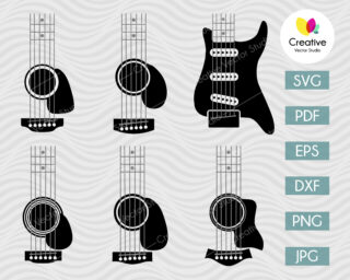 Guitar SVG for Tumblers #2